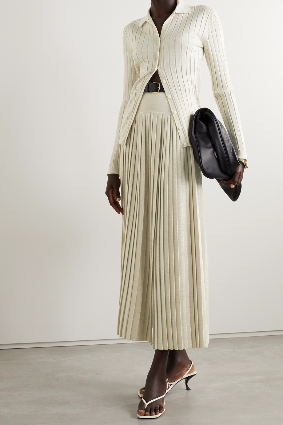 The Row Chicco ribbed wool and silk-blend cardigan