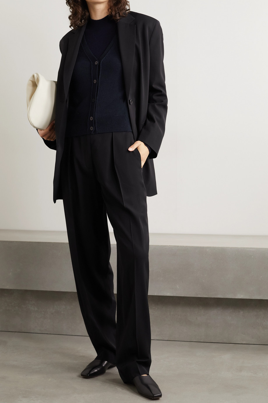 The Row Carbonia cashmere cardigan