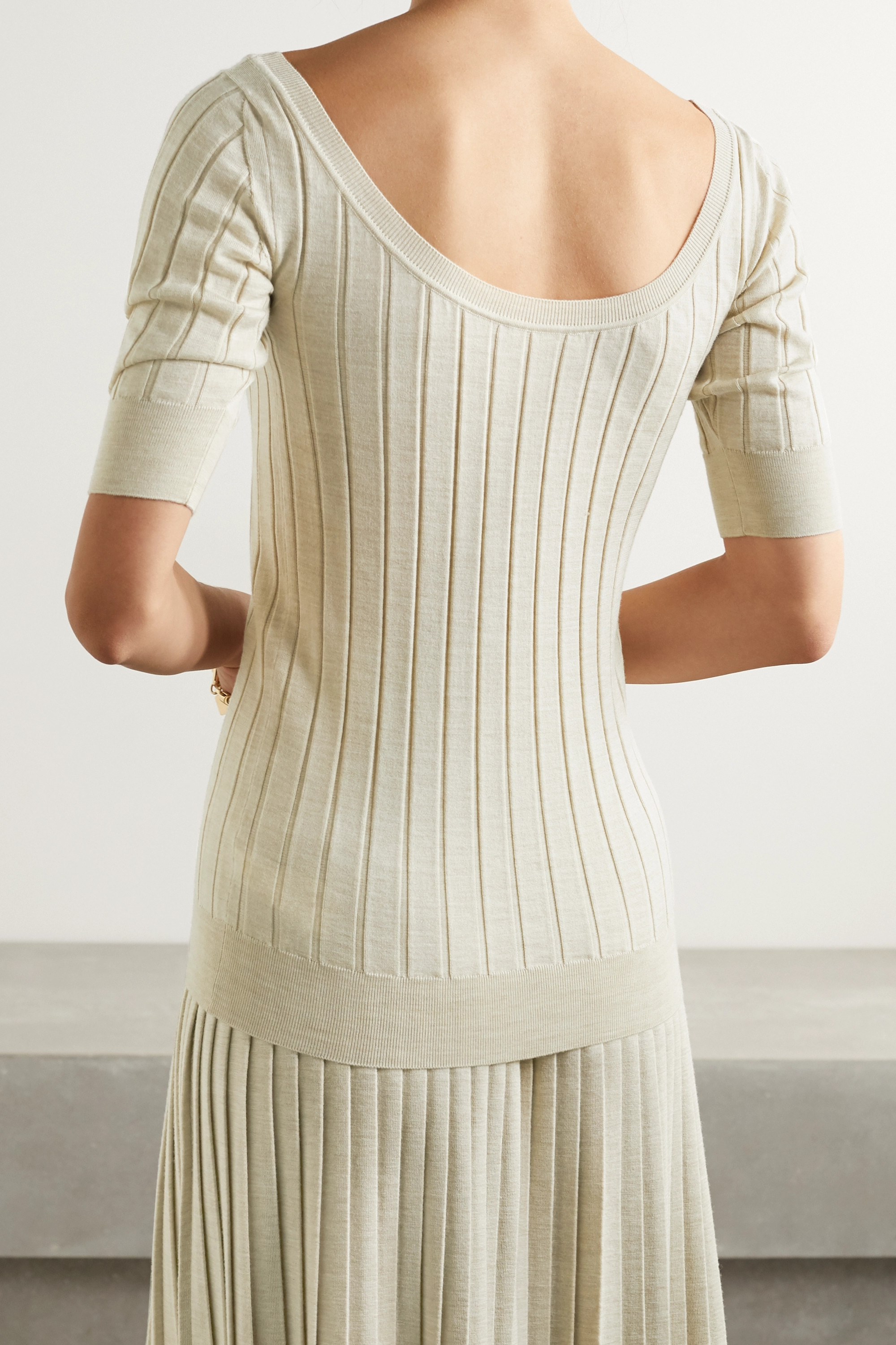 The Row Colombe ribbed wool and silk-blend top