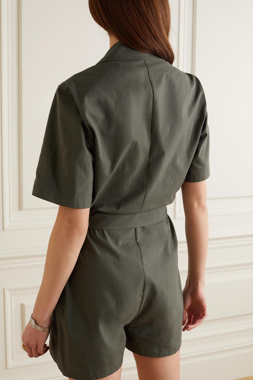 Giuliva Heritage Combi-short en serge de coton à ceinture The Sienna