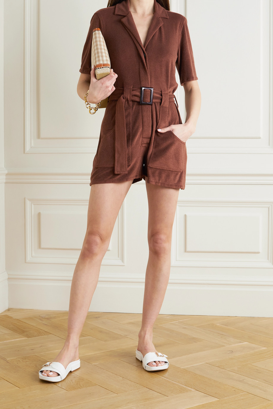 Giuliva Heritage Combi-short en molleton de coton à ceinture The Sienna