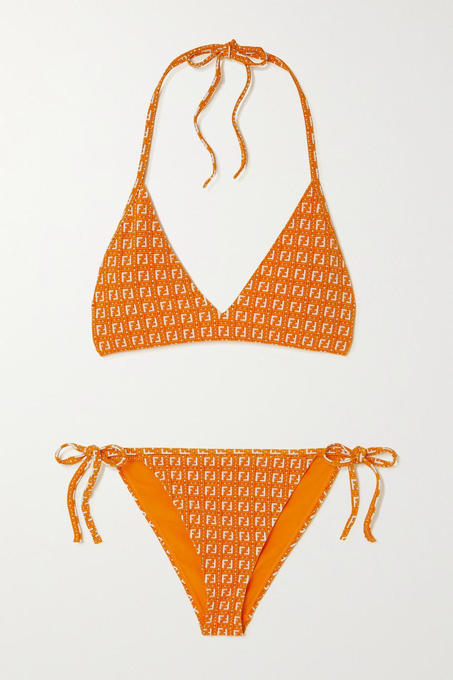 Fendi Neckholder-Bikini aus Stretch-Jacquard