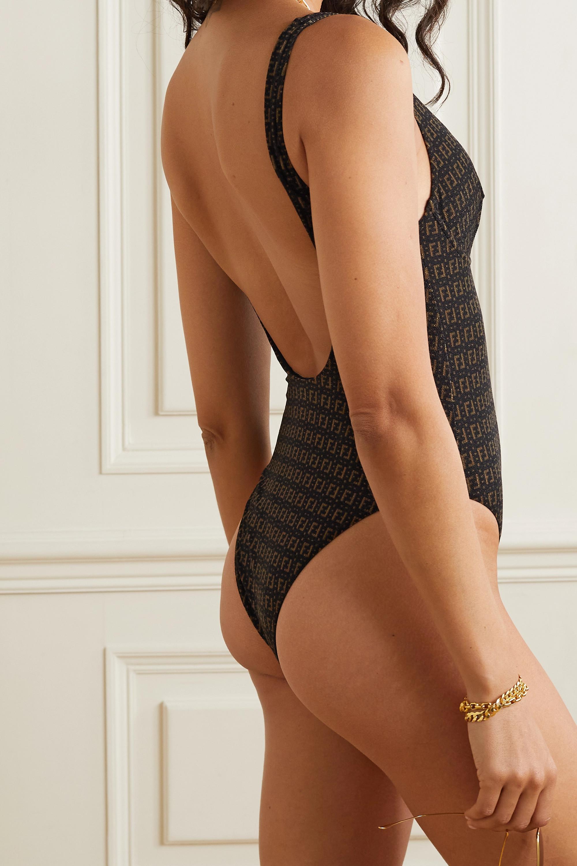 Fendi Stretch jacquard-knit underwired swimsuit