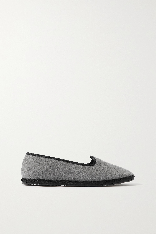 Vibi Venezia Mélange cashmere slippers