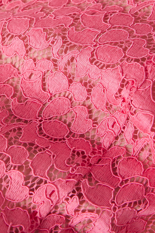 Stella McCartney Daniela one-shoulder cotton-blend corded lace mini dress