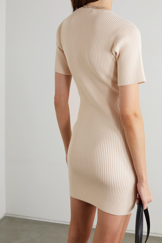 Stella McCartney Ribbed cotton-blend mini dress