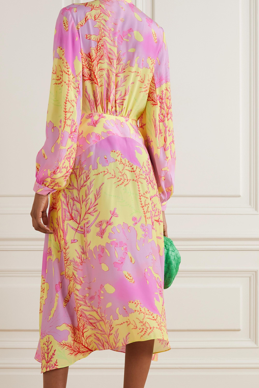 Stella McCartney Alyssa asymmetric printed silk dress