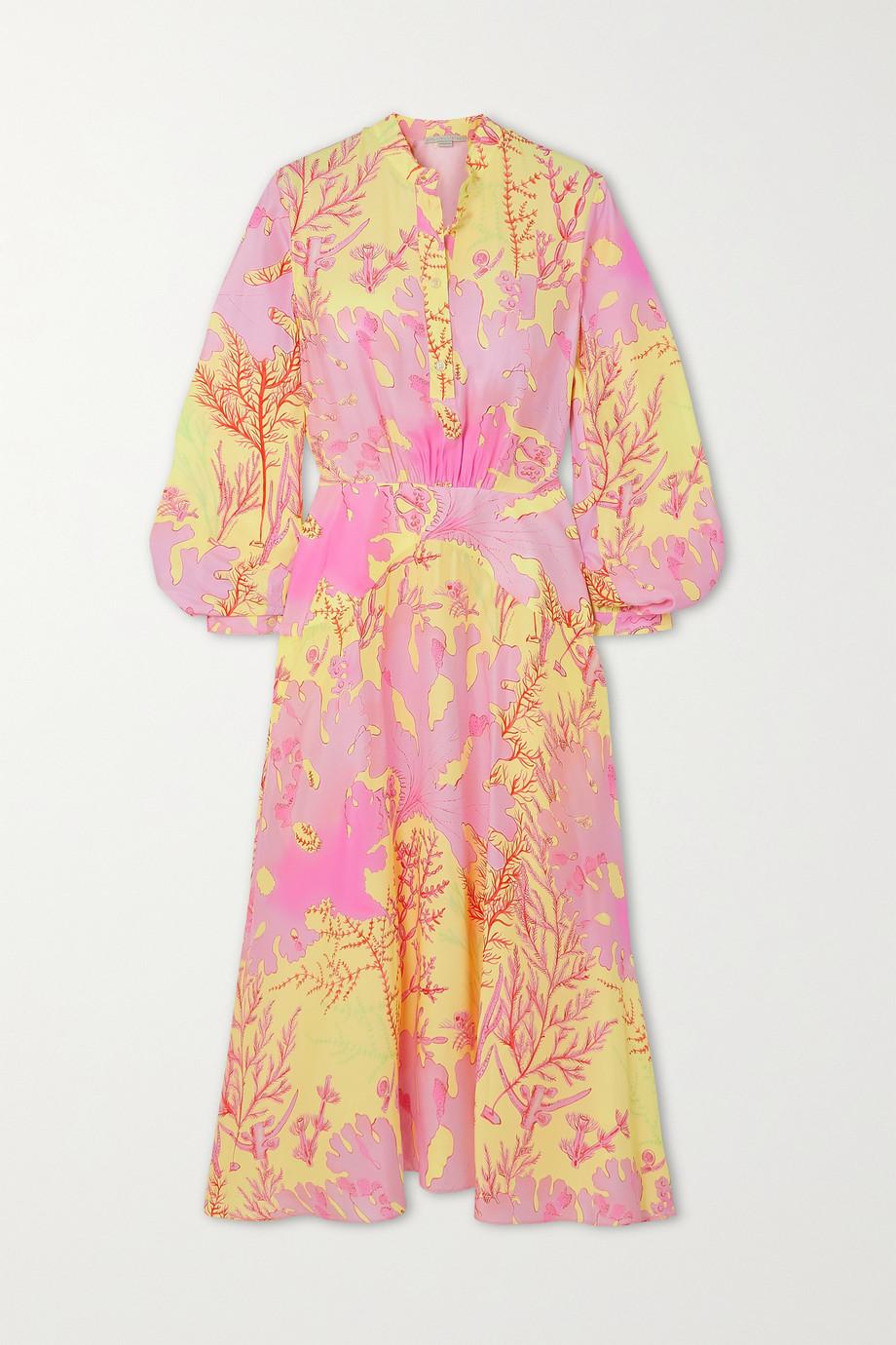 Stella McCartney Alyssa asymmetrisches Kleid aus bedruckter Seide