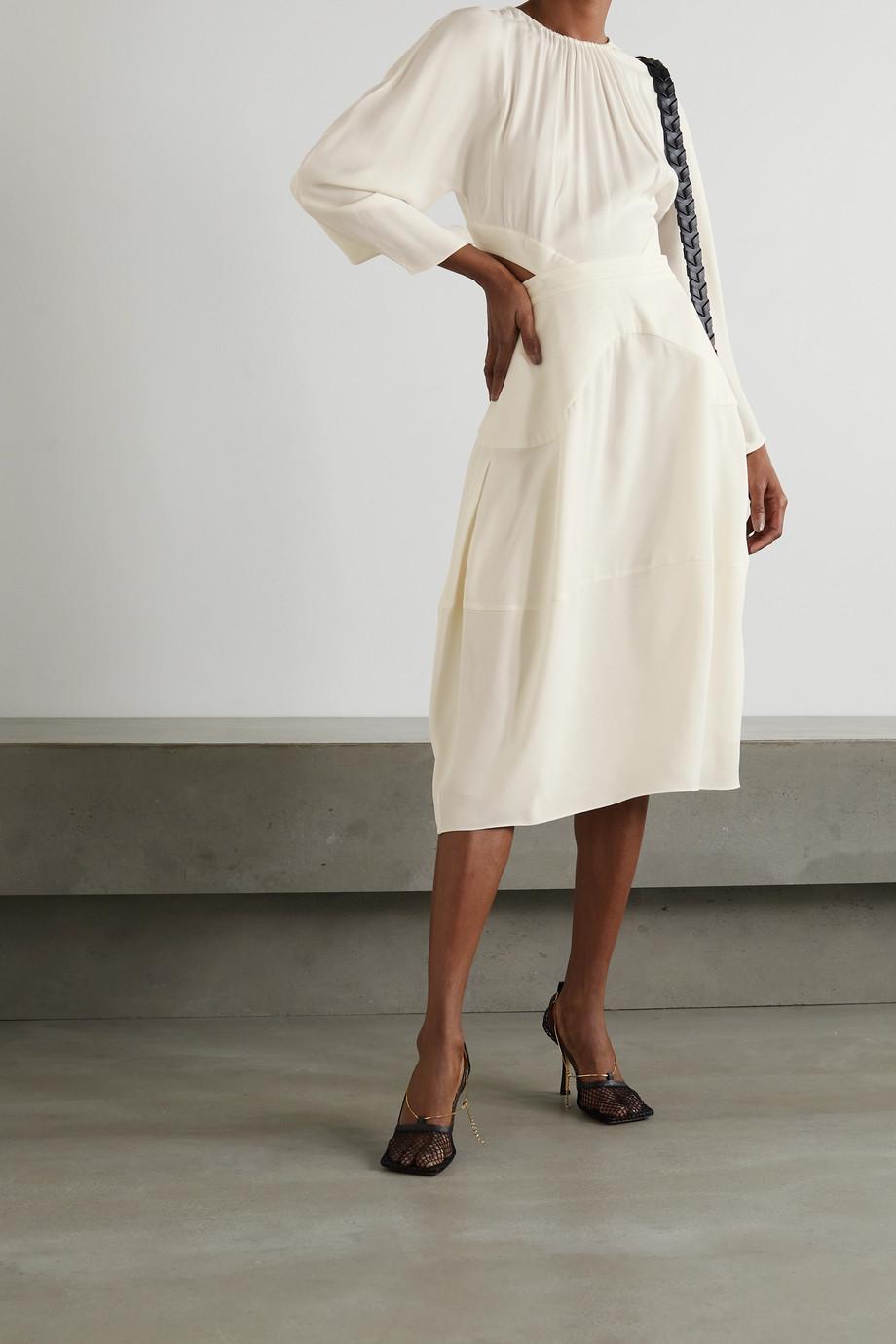 Stella McCartney Amara gathered cutout crepe midi dress