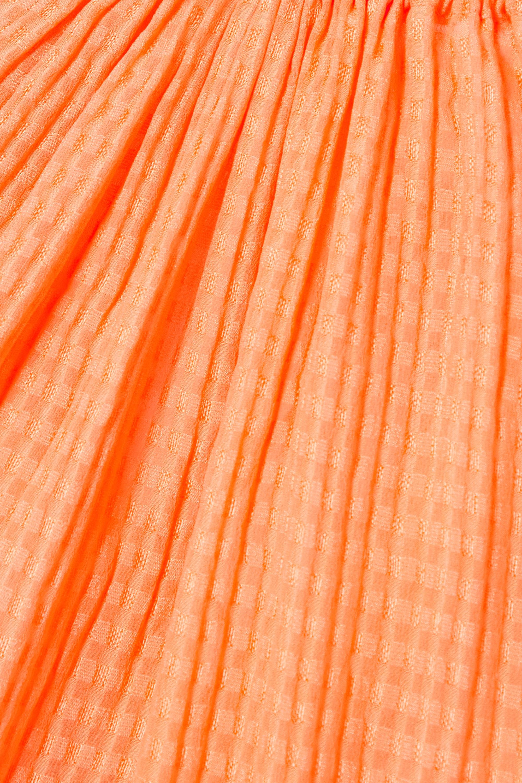 Stella McCartney Amanda silk-seersucker mini dress