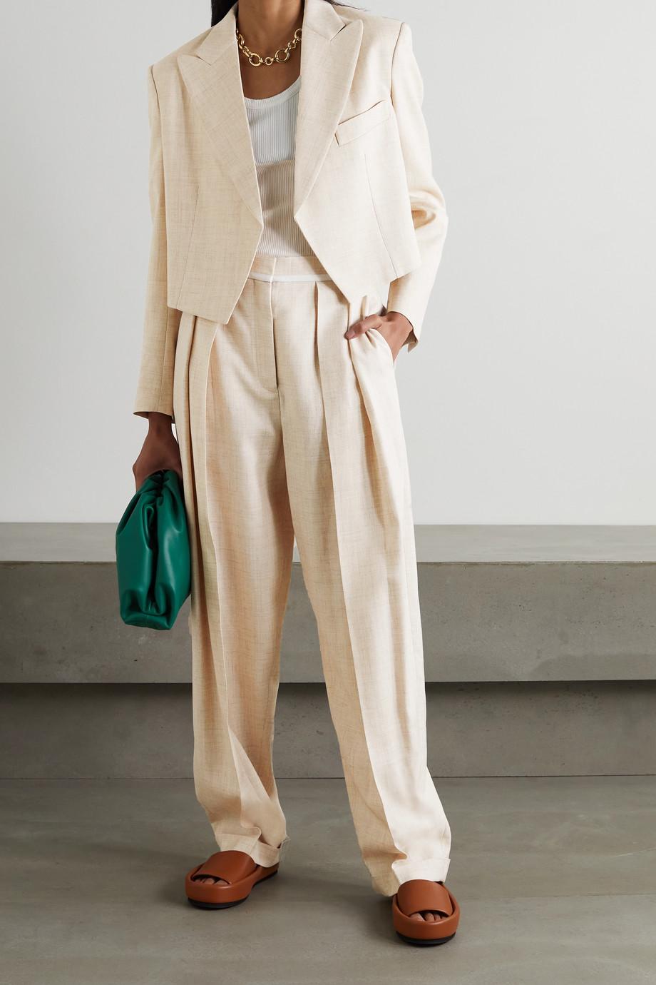 Stella McCartney Adley cropped woven blazer