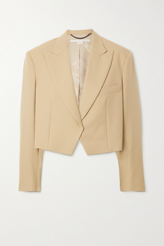 Stella McCartney Adley cropped grain de poudre wool blazer