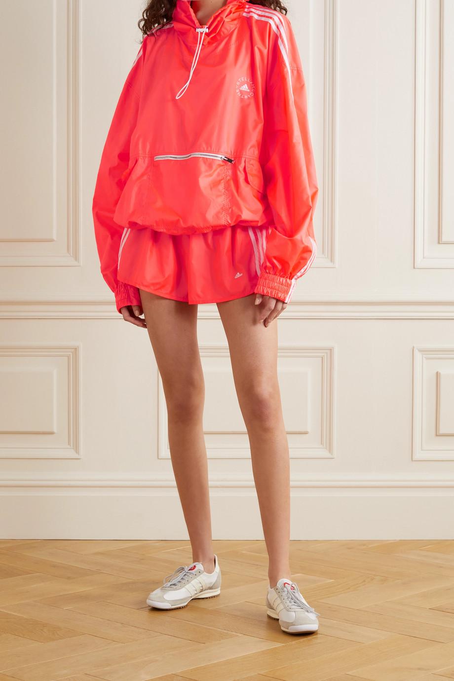 Stella McCartney + adidas Originals Jayla neon hooded striped shell jacket
