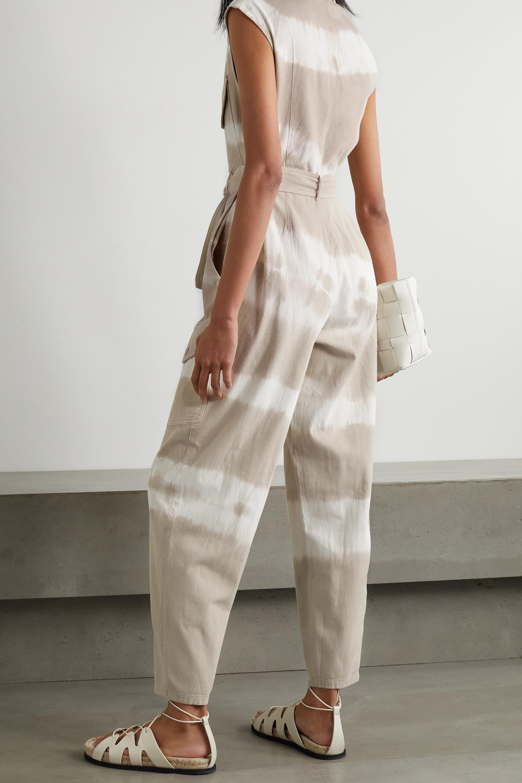 Stella McCartney Belted tie-dyed cotton-twill jumpsuit