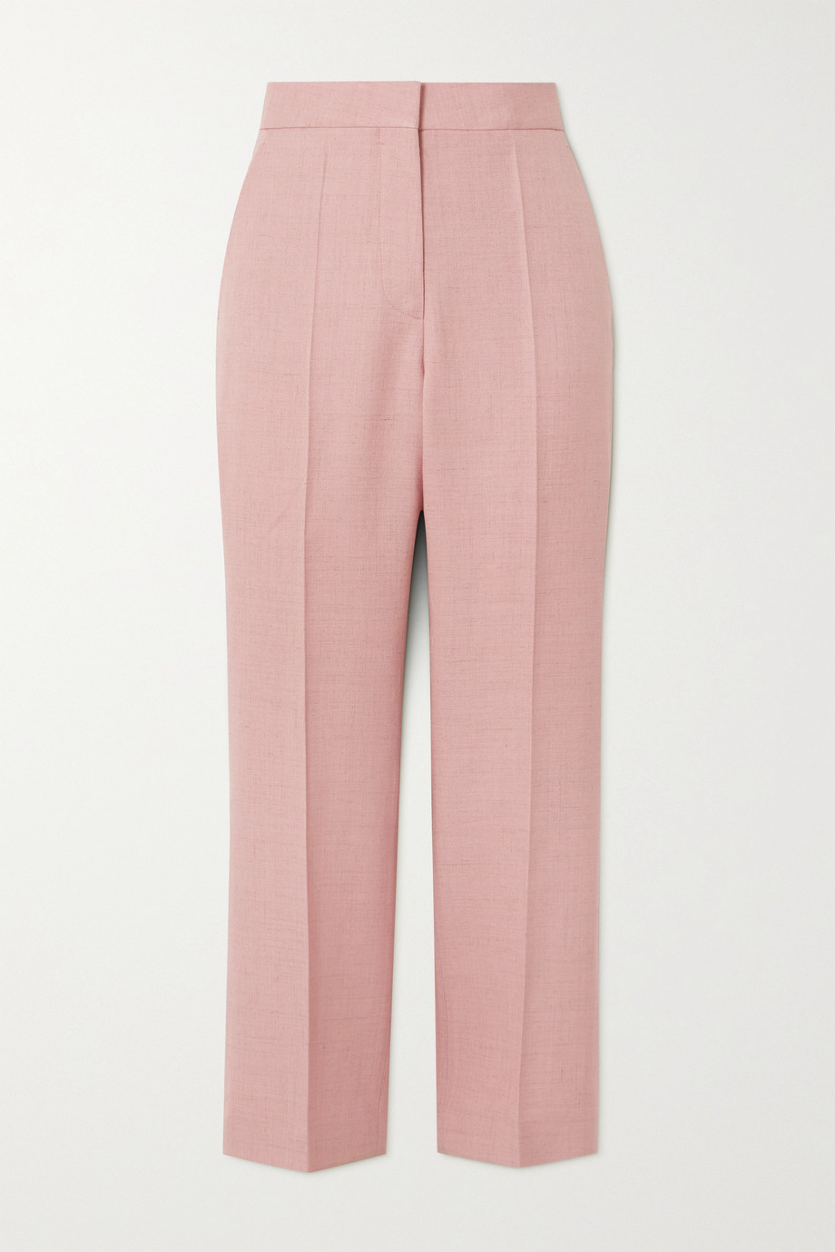 Stella McCartney Pantalon droit raccourci tissé Carlie