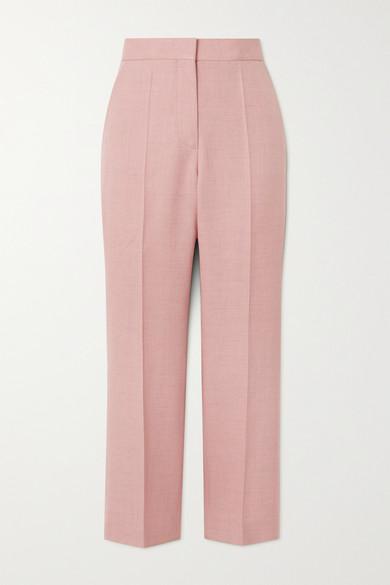 Stella Mccartney Pants CARLIE CROPPED WOVEN STRAIGHT-LEG PANTS