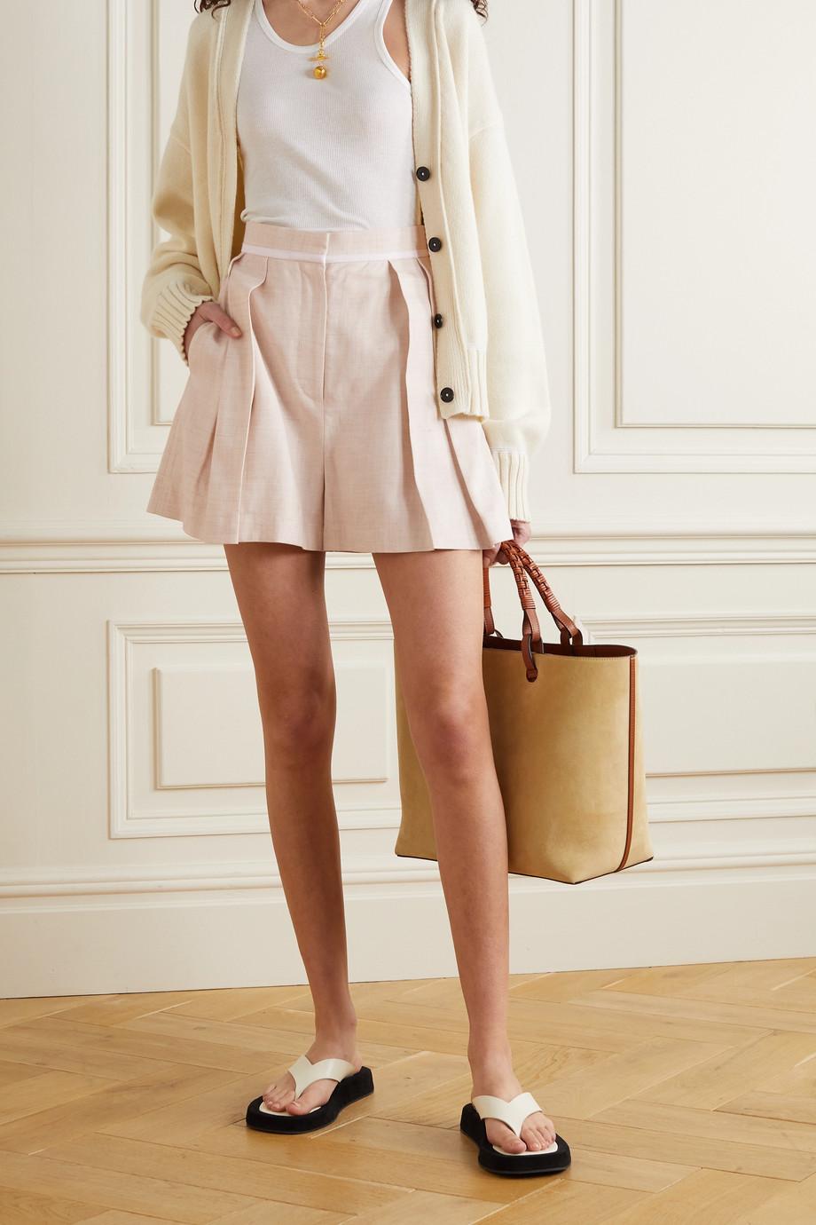 Stella McCartney Ariel pleated woven shorts