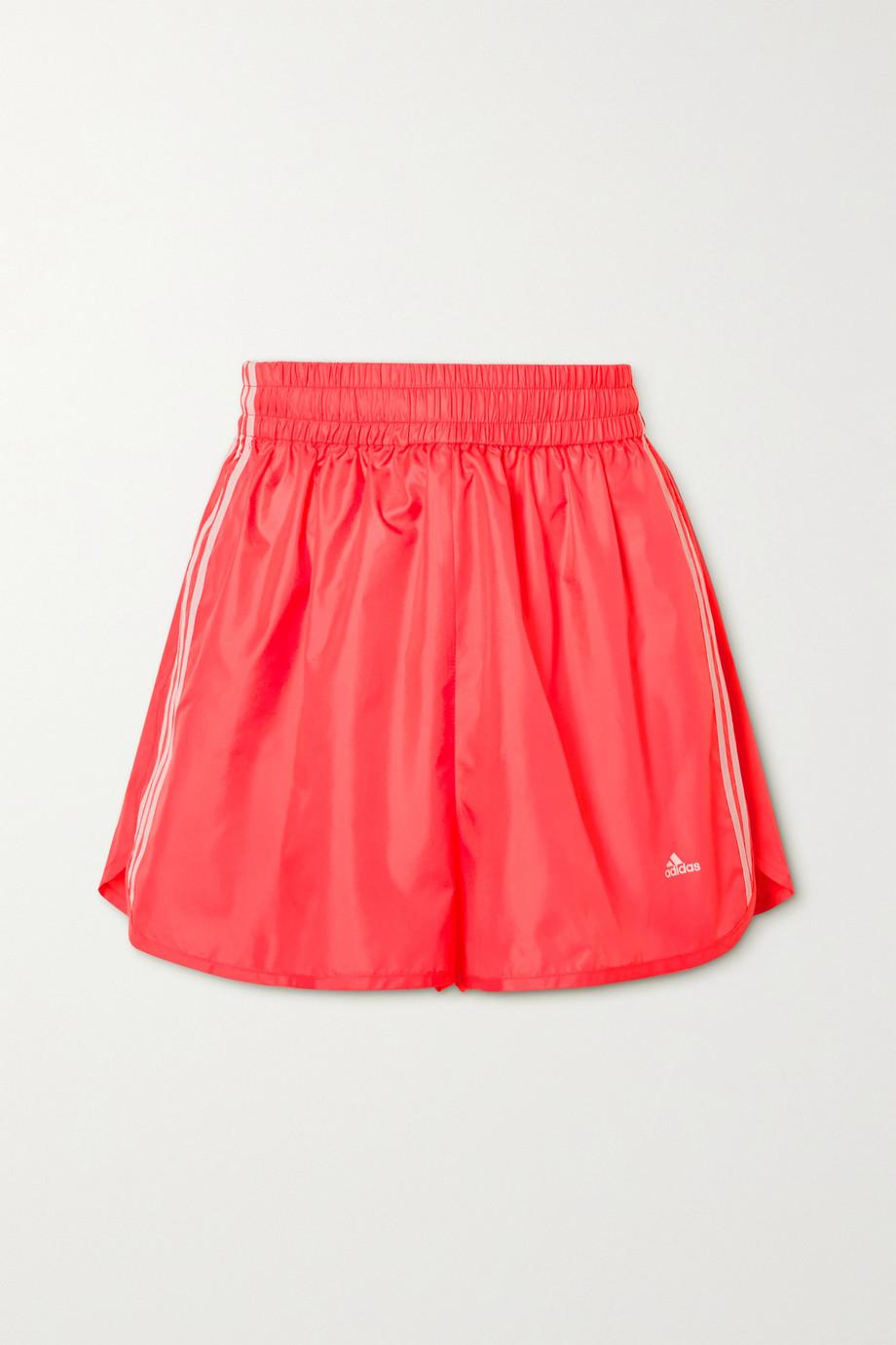 Stella McCartney + adidas Originals Josie neon striped shell shorts
