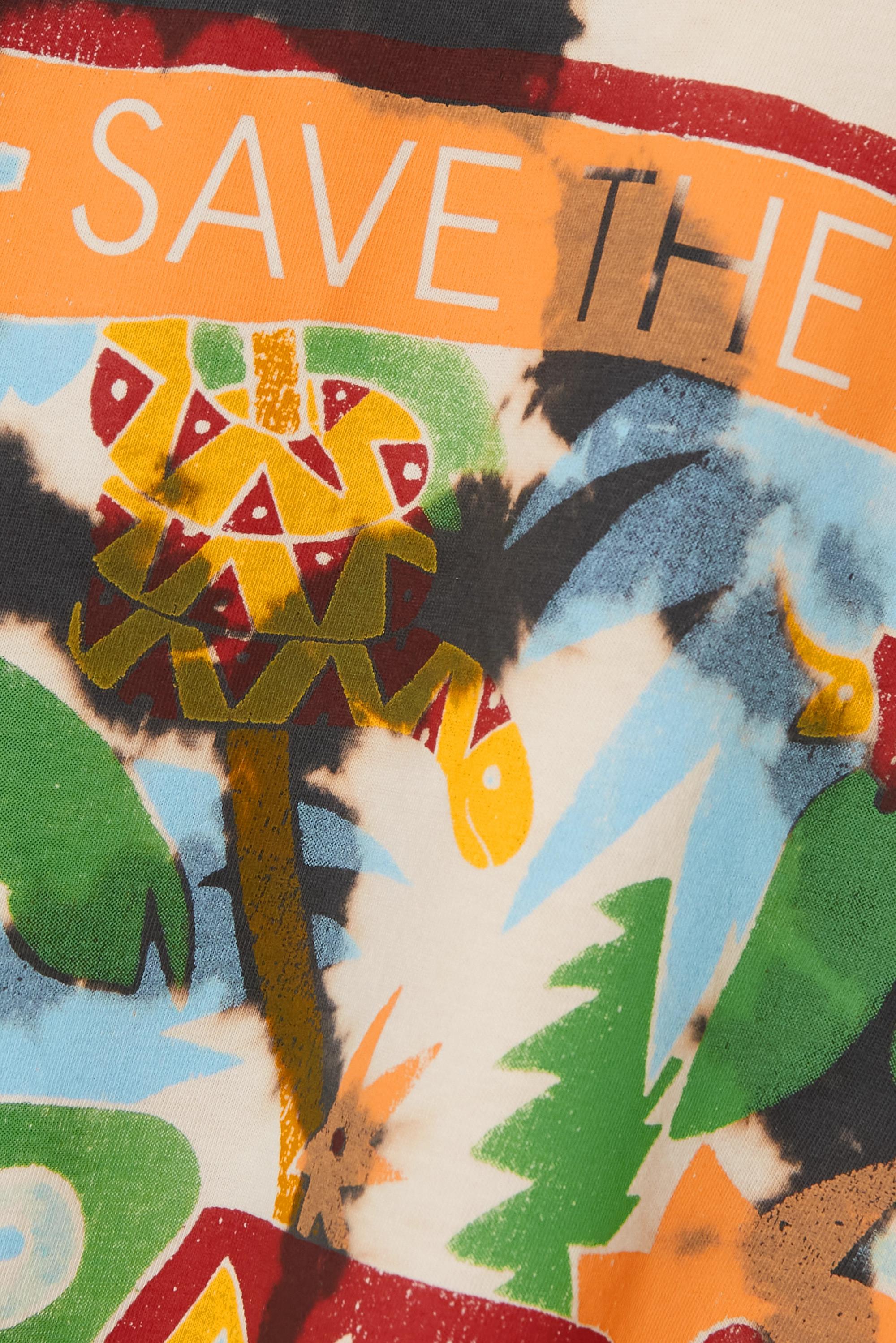 Stella McCartney + Greenpeace printed tie-dyed organic cotton-jersey T-shirt