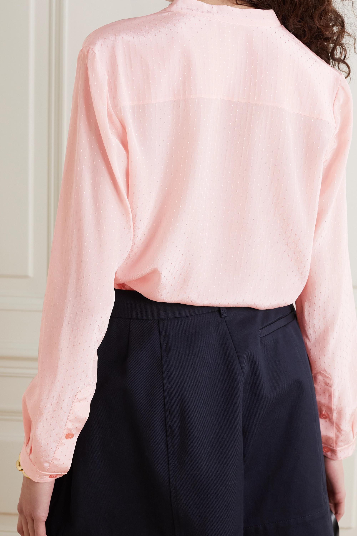 Stella McCartney Eva Swiss-dot chiffon shirt