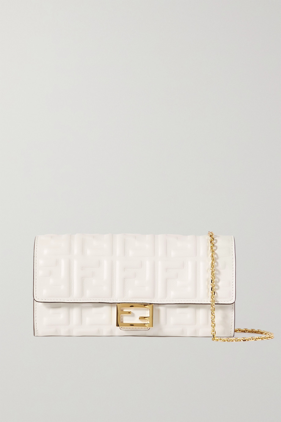 Fendi Baguette embossed leather shoulder bag