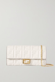 Fendi Baguette embossed leather shoulder bag