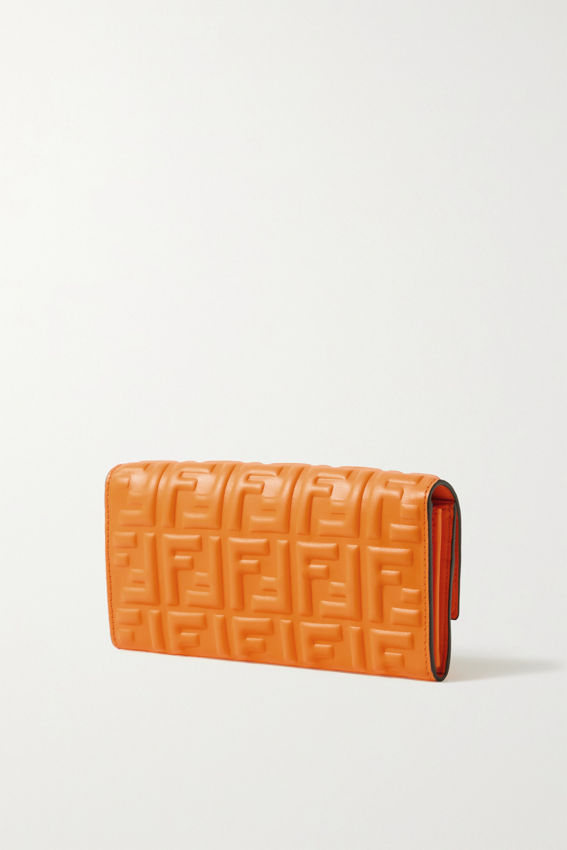 Fendi Baguette Clutch aus geprägtem Leder