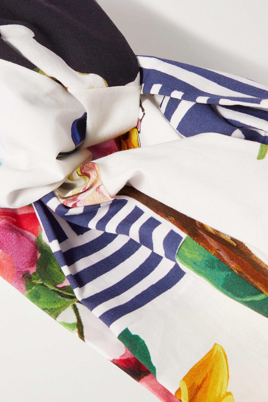 Dolce & Gabbana Twist-front printed poplin headband