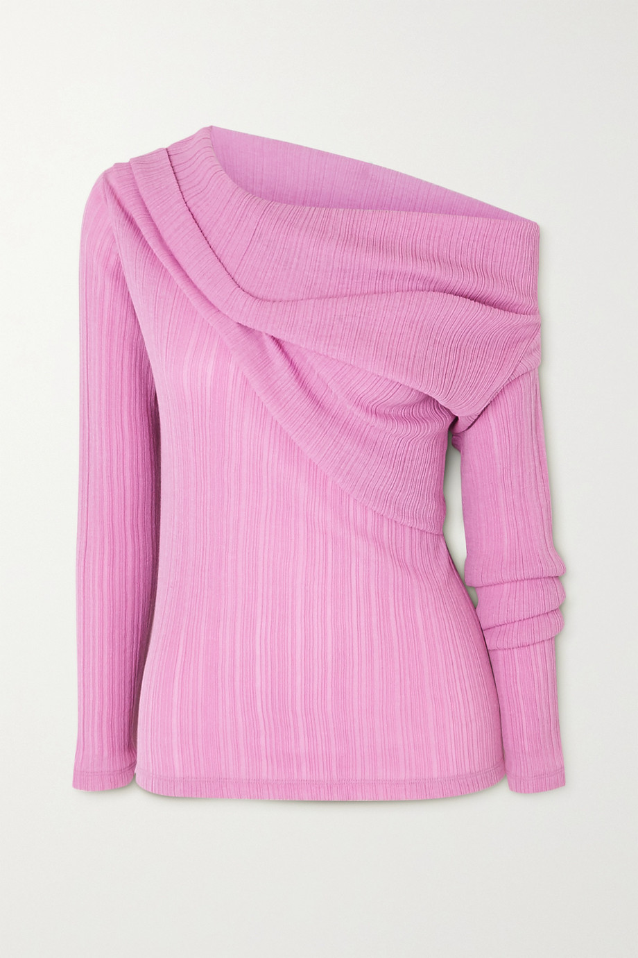Nina Ricci Draped plissé cotton-blend top