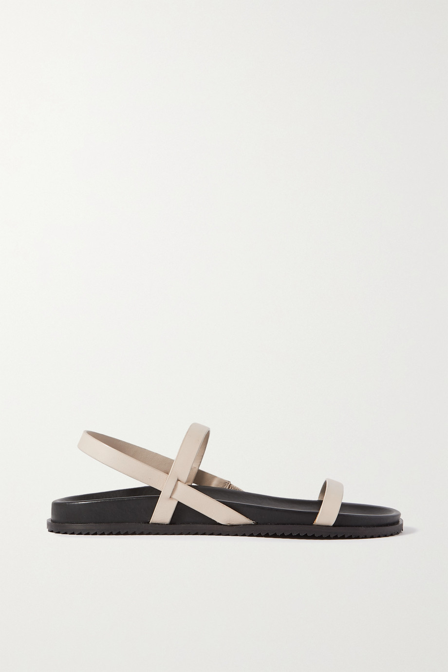ST. AGNI + NET SUSTAIN Gio two-tone leather slingback sandals