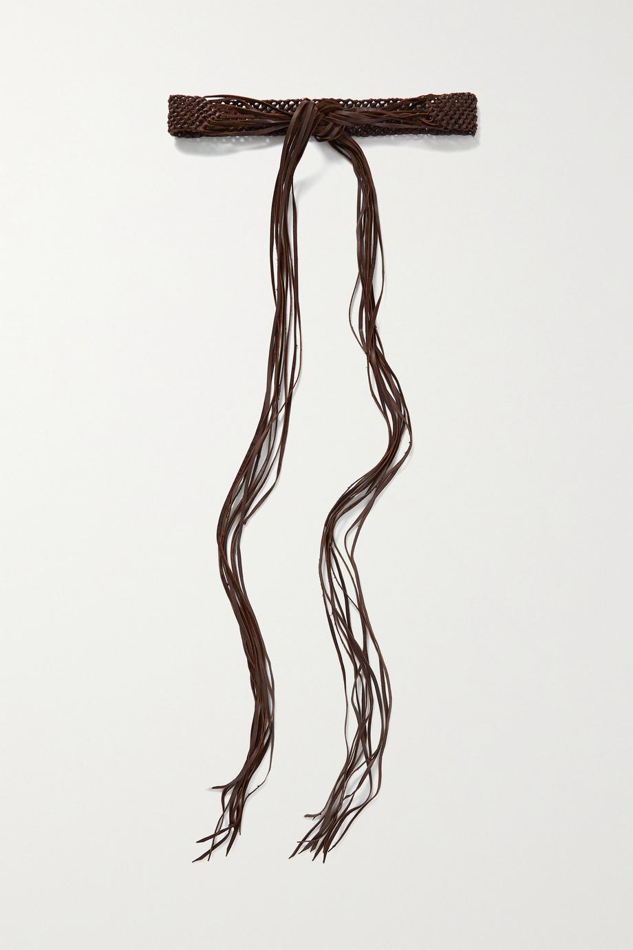 Caravana Balche fringed braided leather belt