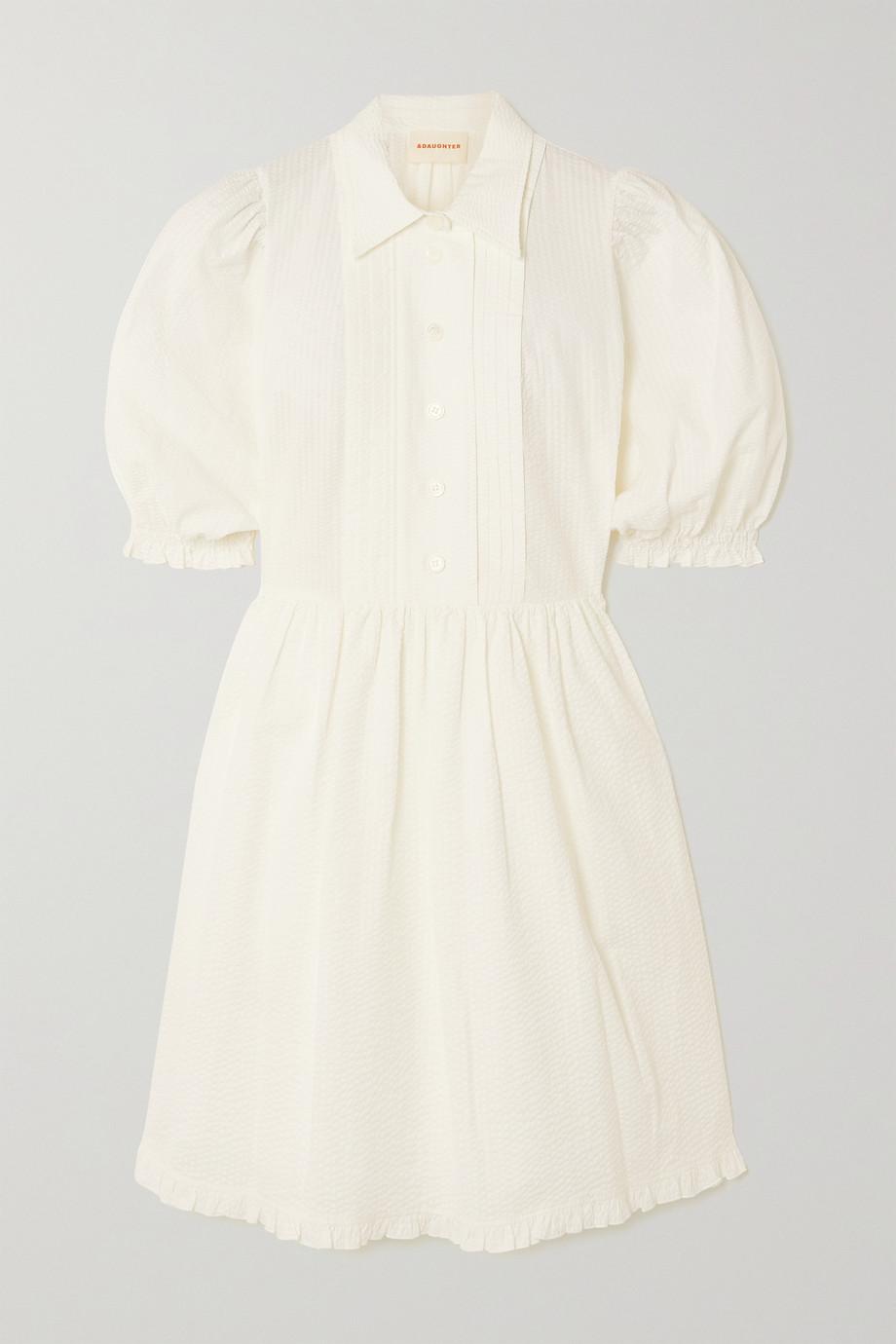 &Daughter + NET SUSTAIN Veronica organic cotton-seersucker dress