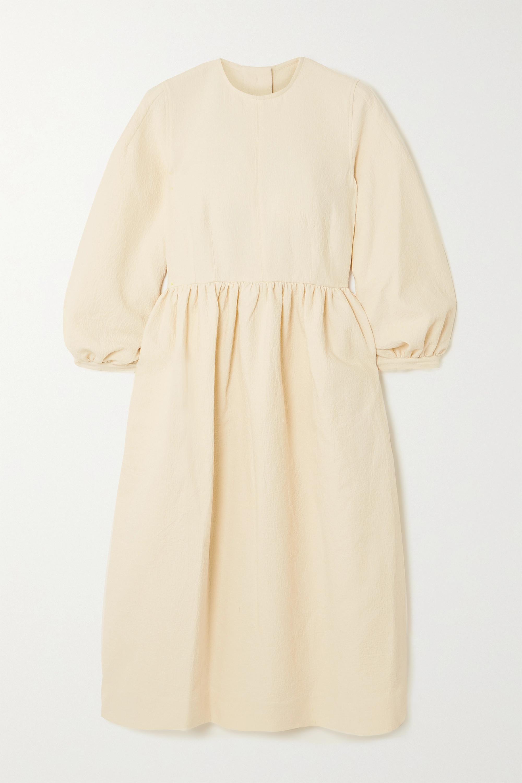 &Daughter + NET SUSTAIN Rosalie gathered organic cotton-jacquard midi dress
