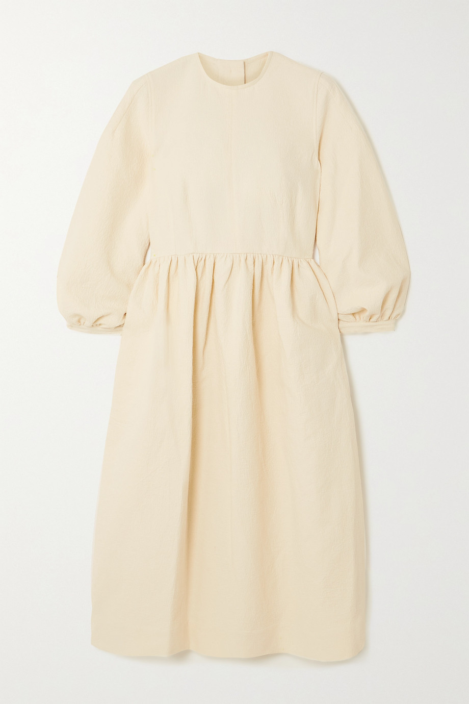 &Daughter + NET SUSTAIN Rosalie gathered organic cotton-jacquard midi dress