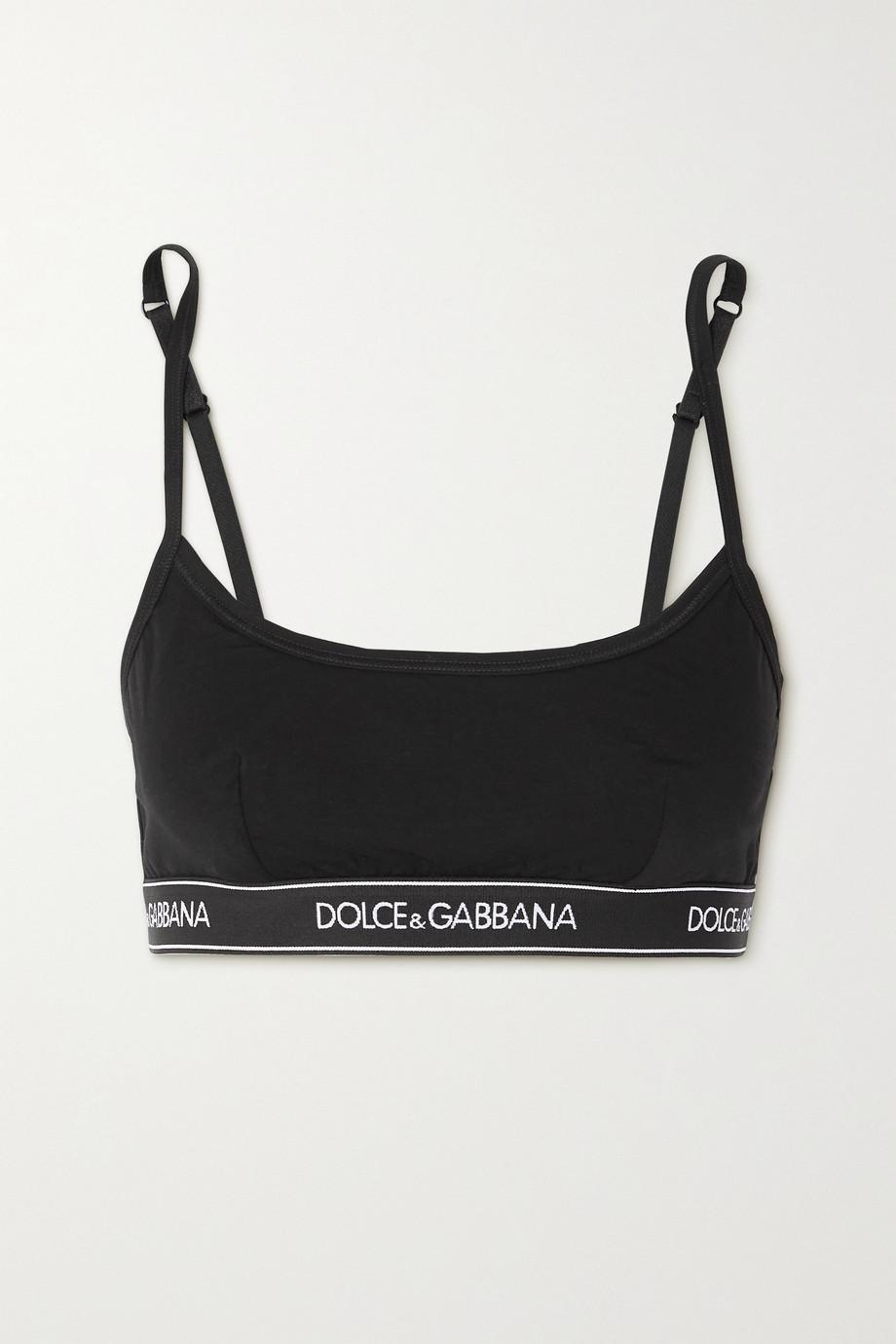 Dolce & Gabbana Brassière en modal et coton mélangés stretch