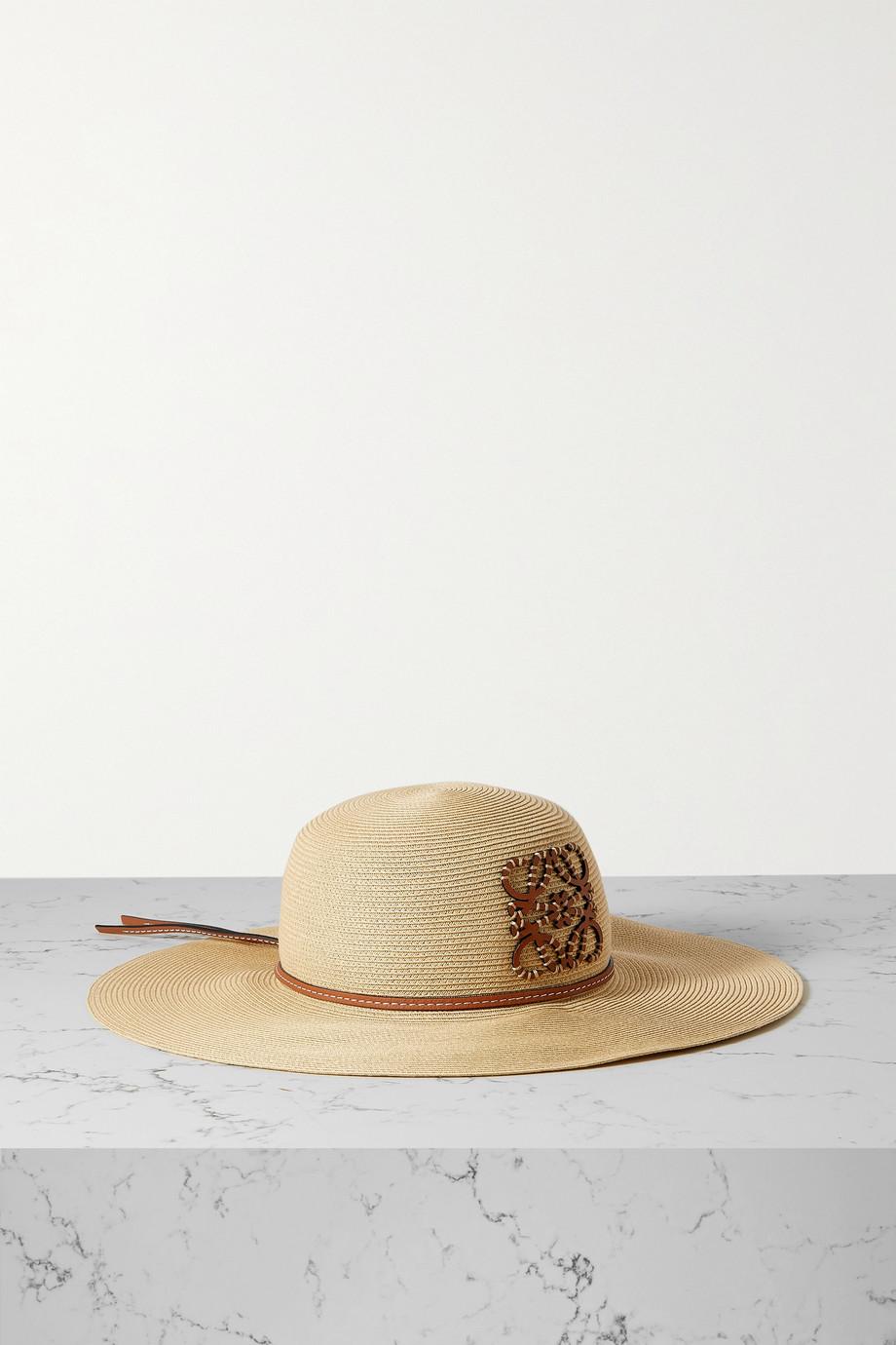 Loewe Chapeau en paille et en cuir x Paula's Ibiza
