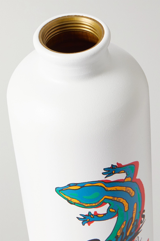 Loewe + Paula's Ibiza leather-trimmed aluminum bottle