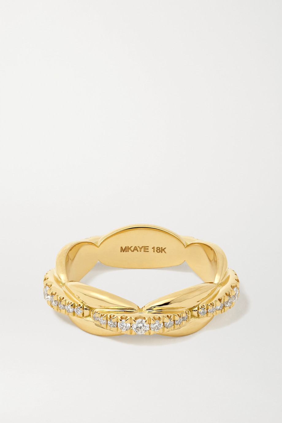 Melissa Kaye Ada 18-karat gold diamond ring