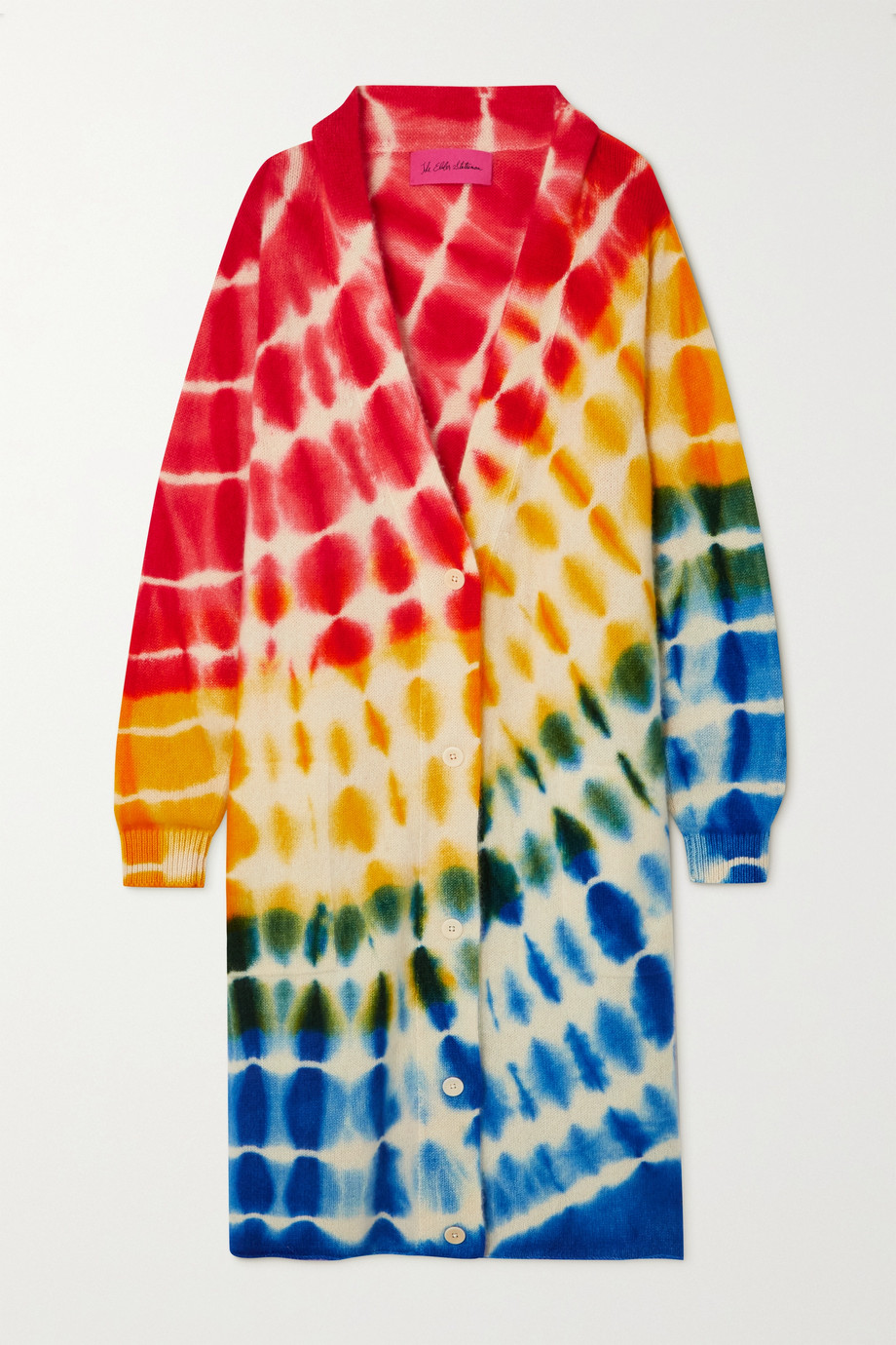 The Elder Statesman Radiate oversized tie-dyed cashmere cardigan