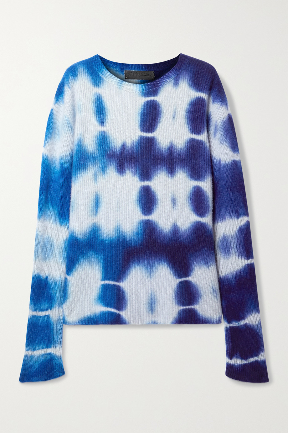 The Elder Statesman Triptych tie-dyed ribbed cashmere sweater