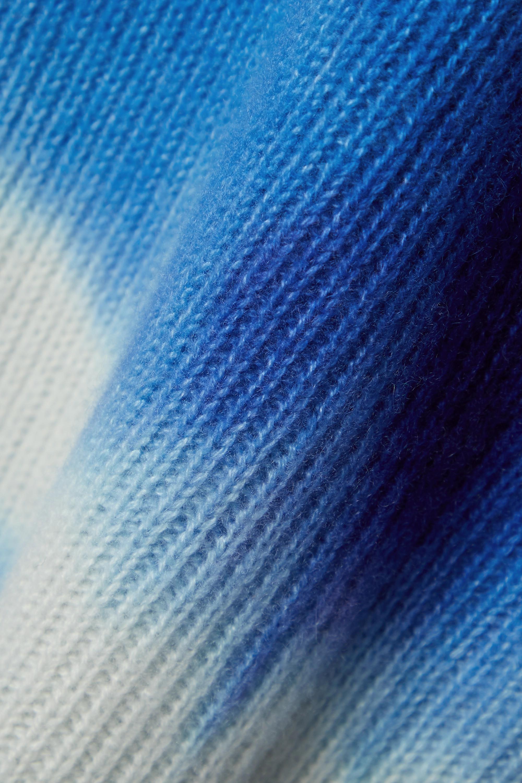 The Elder Statesman Pantalon évasé en cachemire côtelé tie & dye Triptych