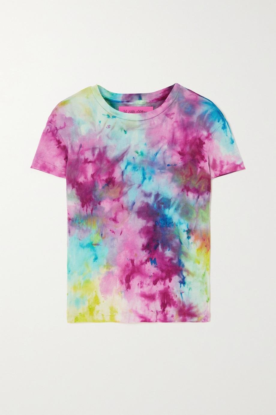 The Elder Statesman T-shirt en coton et cachemire mélangés tie & dye Paper Rainbow