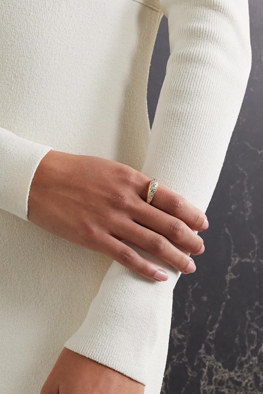 Melissa Kaye Remi 18-karat gold diamond ring