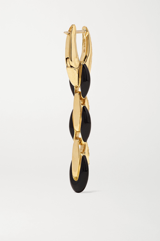 Melissa Kaye Ada Creolen aus 18 Karat Gold mit Diamanten und Emaille