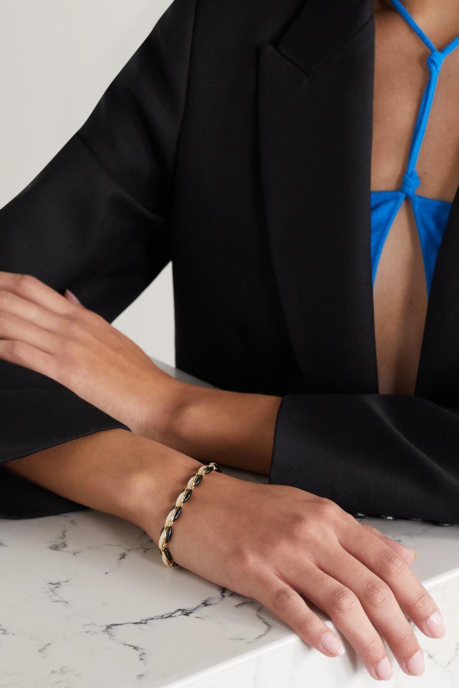 Melissa Kaye Ada 18-karat gold, diamond and enamel bracelet
