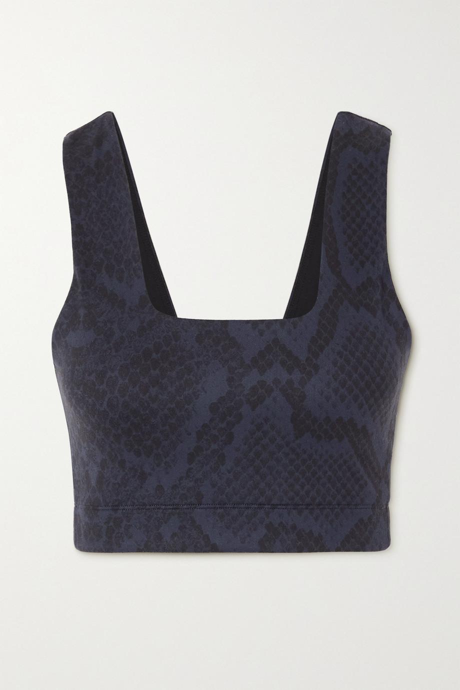 Varley Delta snake-print stretch sports bra