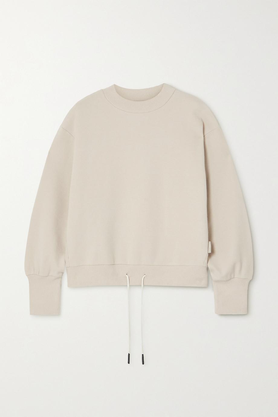 Varley Edith stretch-cotton piqué sweatshirt