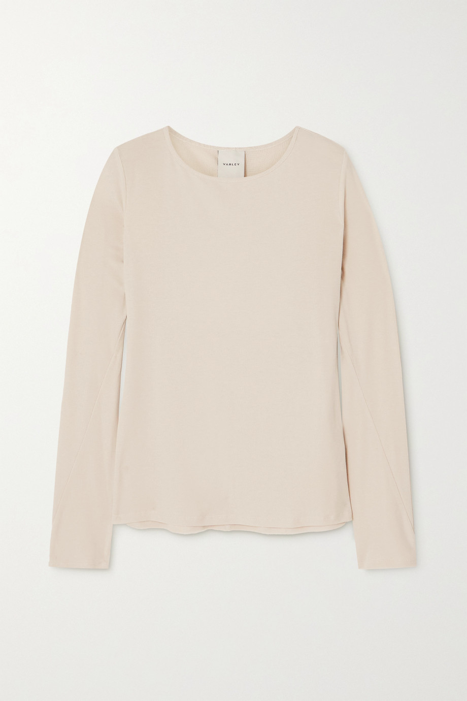 Varley Astoria ribbed TENCEL™ Lyocell and linen-blend top