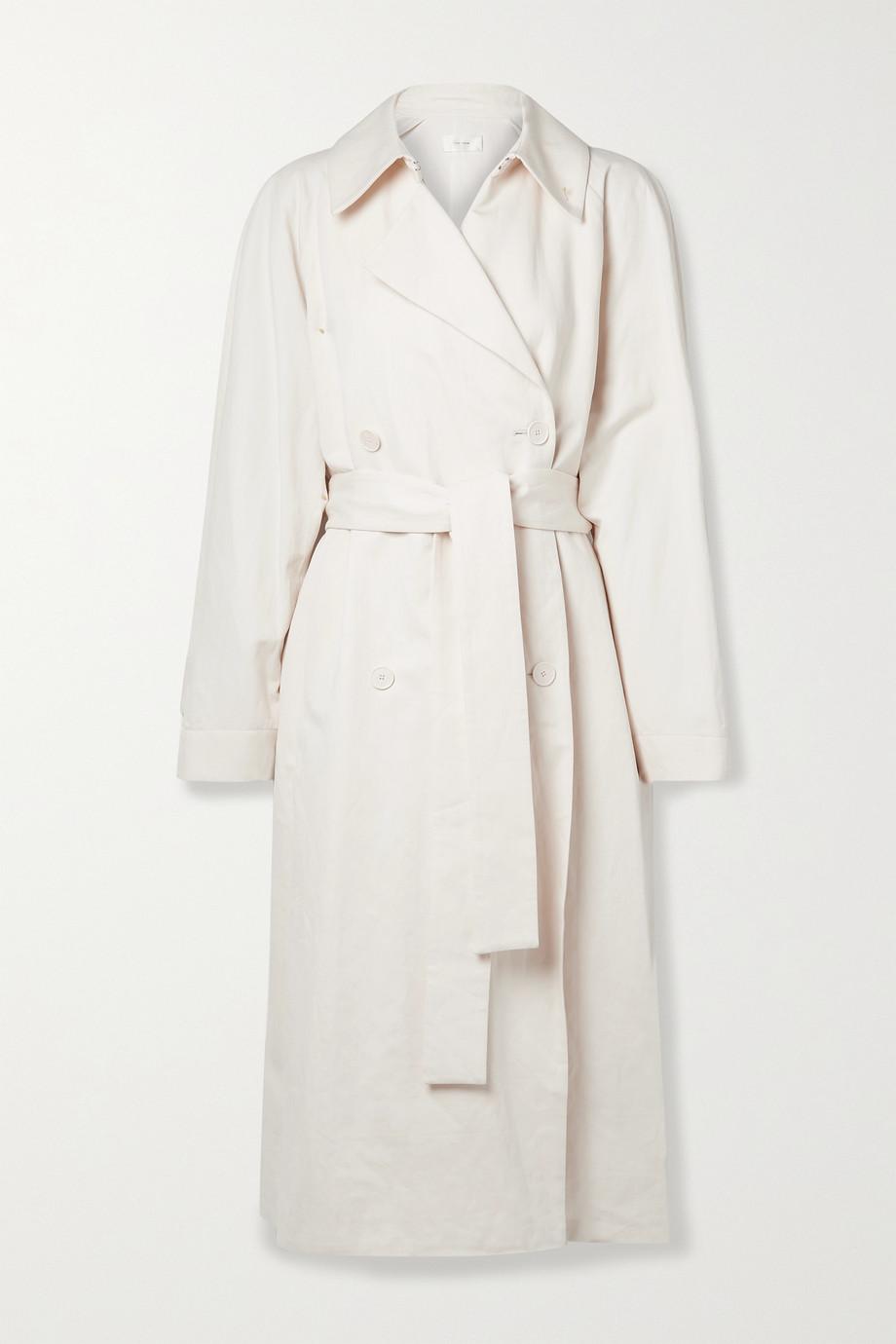 The Row Trench-coat oversize en gabardine de coton et de lin mélangés Oswin