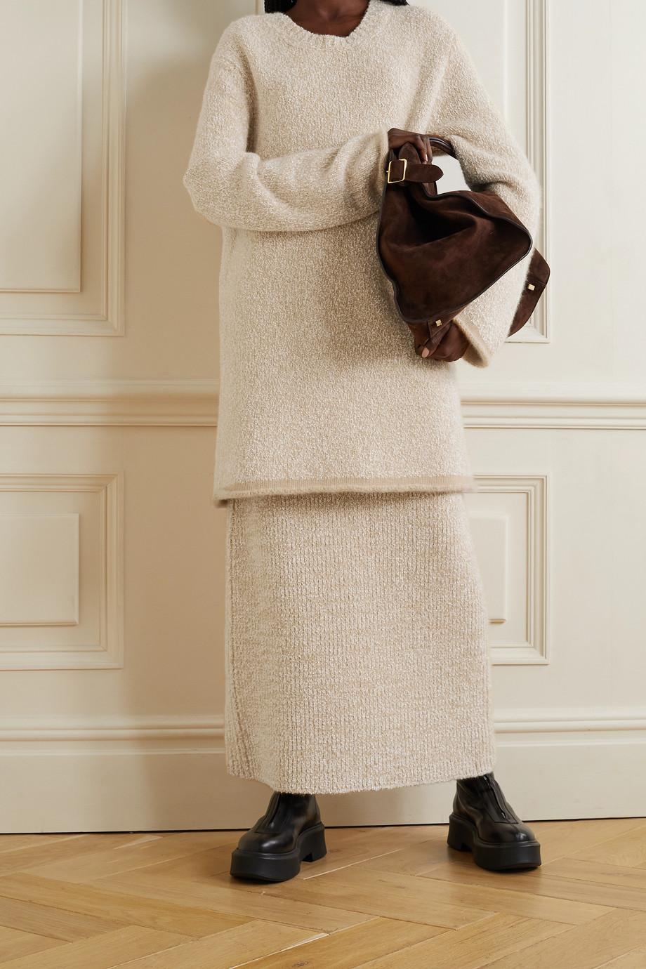 The Row Cambria Oversized-Pullover aus Bouclé aus einer Kaschmir-Seidenmischung